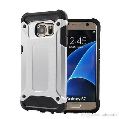 Hybrid Armor Shockproof Rugged Bumper Case For Samsung Galaxy S7 White