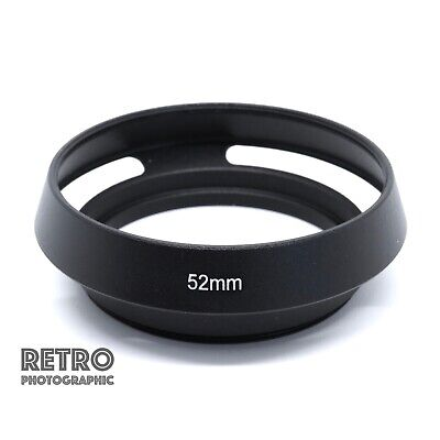 52mm Screw In Metal Vented Lens Hood For Lenses With 52mm Filter Thread UK Stock