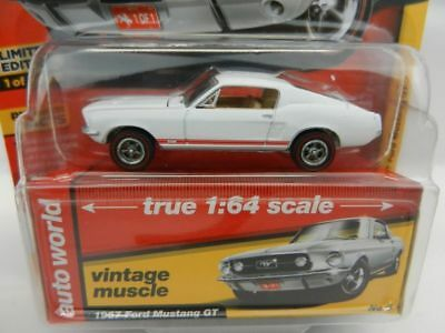 `67 Ford Mustang GT  Gloss White 1967 **RR** Auto World Muscle 1:64  *SALE*