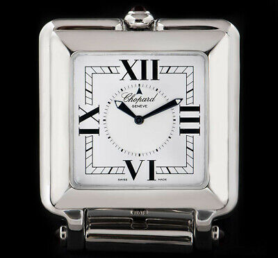 Chopard Happy Day Travel Clock Stainless Steel White Dial 51/8325-21