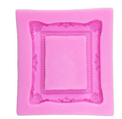 Square/Rectangle Frame/Mirror Silicone Mould/Mold-Picture-Fondant-Cake/Resin