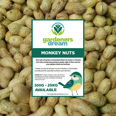 GardenersDream Monkey Nuts - Fresh Garden Wild Birds And Small Animals Nut Food