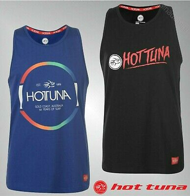 Mens Hot Tuna Crew Neck Large Print Cotton Vest Top Sizes from S to  XXL