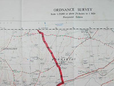 1959 old OS Ordnance Survey 1:25000 First Series Prov map ST 99 Kemble 31/99