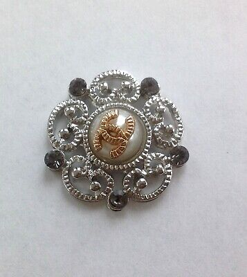 VINTAGE CHANEL SILVER FLOWER BUTTONS  SIZE 20mm