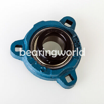 """SAFTD207-22 New 1-3//8/"""" Eccentric Locking Bearing with 2 Bolt Ductile Flange"""