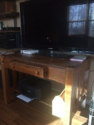 Antique Mission Arts Crafts Library Table Desk