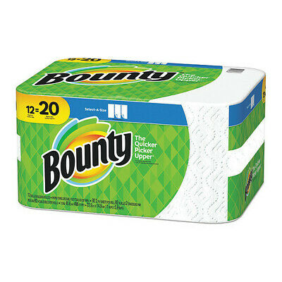 BOUNTY 95022 Paper Towels,2-Ply,5.9x11,92 Sheets,PK12