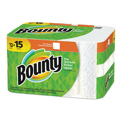 BOUNTY 95032 Paper Towels,2-Ply,45 Sheets,,White,PK12