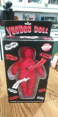 VOODOO DOLL Pins Therapy Stress Relief Witch Original Accoutrements - Red