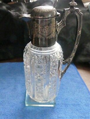 Cut Glass Claret Jug Decanter Mappin & Webb Sheffield & London Princes Plate