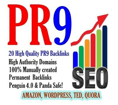 20 TOP Backlinks PR9 from High Authority Sites -Permanent links - Google Ranking