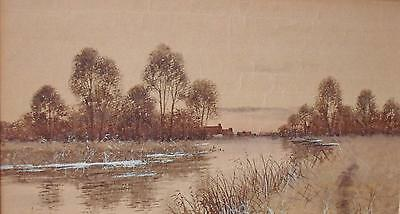 Francis Gordon Fraser (1879-1931) Pair Watercolour Paintings River Scenes 1903