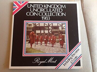 1983 Royal Mint United Kingdom Uncirculated Coin Collection Set