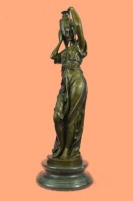 Handcrafted Detailed Museum Quality Maiden Classic Artwork 100% Solid Bronze Art