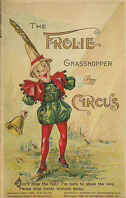 The American Cereal Co, Quaker Oats Company / Frolie Grasshopper Circus 1895