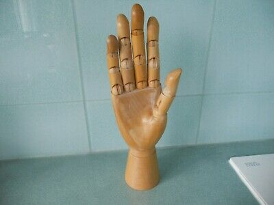 Vintage Articulated / Jointed Wooden Model Of A Right Hand For Artists, Etc.