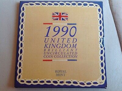 1990 Royal Mint United Kingdom Brilliant Uncirculated Coin Collection Set #2