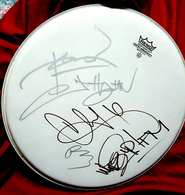 "Awesome Linkin Park Band Signed 14"" Remo Drum Head Charity Auction!!!"