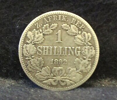 Africa Low Mintage 1892 South Africa 1 Shilling Lot#l2636 Silver