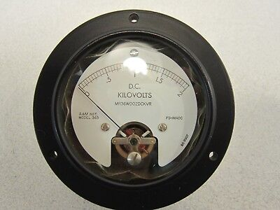 D.C. Kilovolts Voltmeter Model 365  NSN: 662500539888