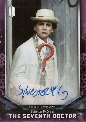 2018 Topps Doctor Who Signature Sylvester McCoy as 7th Doctor Autograph Auto