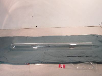 """Heraeus Large Glass Test Tube 33.5"""" x 2.75"""" x 2.75"""" 1/16 inch thick wall"""