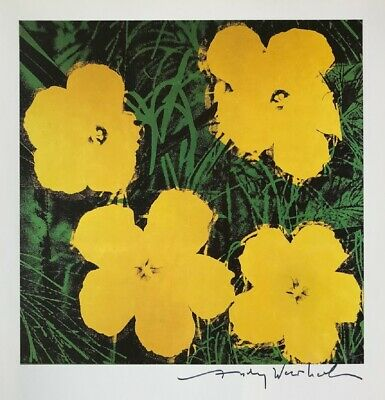 """Andy Warhol, """"Flowers"""" Hand signed Print, 1986 with COA"""