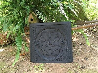 Antique Cast Iron Fireplace Cover  Wreath