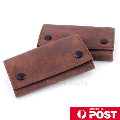 Brown Faux Leather Cigarette Tobacco Pouch Bag Case Paper Christmas Gift OZ