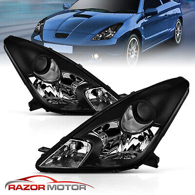 Fit 2000 2001 2002 2003 2004 2005 Toyota Celica GT/GTS Projector Headlight Pair