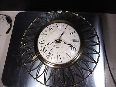 VINTAGE c1960's SESSIONS ART DECO ELECTRIC KITCHEN WALL CLOCK