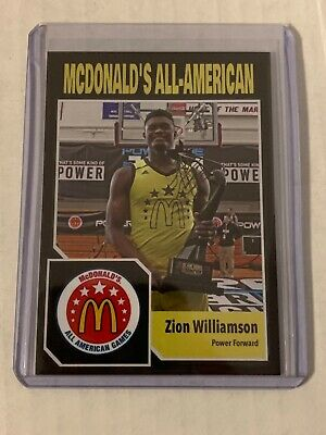 ZION WILLIAMSON McDonalds All American Slam Dunk Champ Rookie ACEO