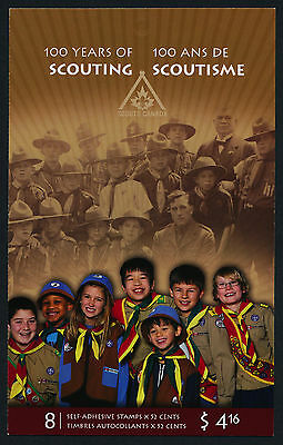 Canada 2225a Booklet MNH Scouting, Scouts