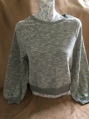 New Ladies / Girls Abercrombie & Fitch Grey Textured Long Sleeved Top Size XS.