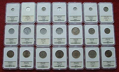 Poland Set Of Coins Prl !! 21 Pieces !! Grading !! Lot 21 Pcs Lot Zestaw Komplet