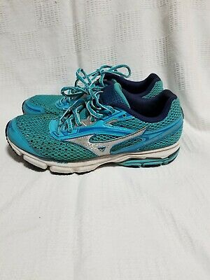 new style f91be aa5a5 Mizuno Wave Legend 3 Womens Blue Running Walking Trail Sneakers Shoes Size  8.5