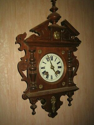 Antique German Black Forest  Wall Clock   Works