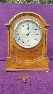EDWARDIAN VINTAGE ANTIQUE ASTRAL OF COVENTRY MANTEL CLOCK c1910 WORKIN SEE VIDEO