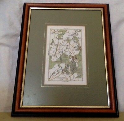 Antique Map. Fine & Rare Georgian Copper Engraving Dated 1786. 10 X 13 Framed.