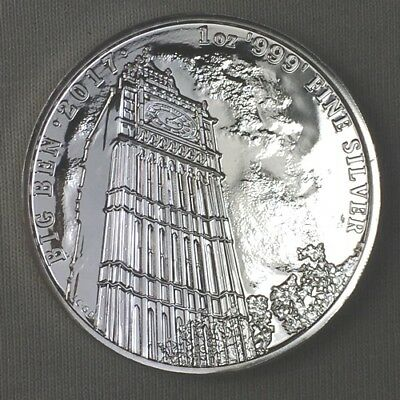 2017 UK Great Britain - Landmarks - Big Ben - 1st in Series - 1 Oz Silver