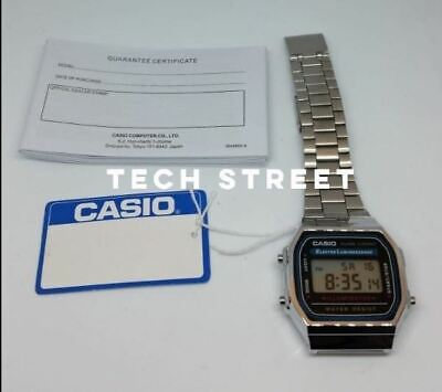 CASIO Retro Unisex Digital Steel Bracelet Watch-A168WA-1YES Silver Refurbished