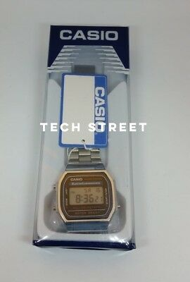 CASIO Retro Unisex Digital Steel Bracelet Watch-A168WA-1YES Silver (Boxed)