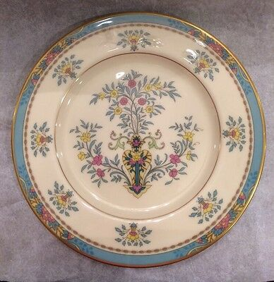 1 Lenox Blue Tree Pattern Gold Rimmed 10.5 Inch China Dinner Plate