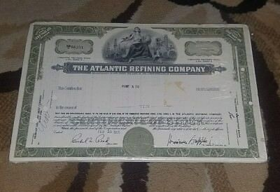 1965 ARCO Atlantic Richfield gas oil Preferred Stock certificate 3.75% Shares