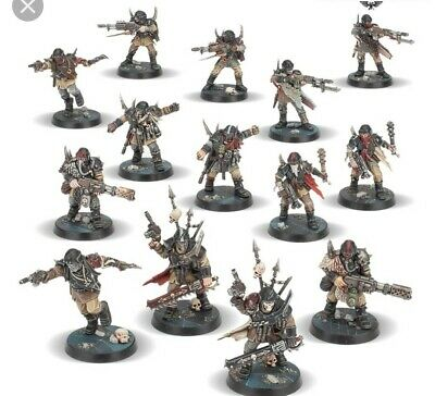 10 x renegade guard/ chaos cultists. 40k