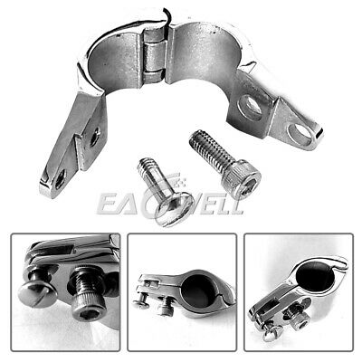 """1"""" Stainless Steel Marine Hardware Fitting for Boat Bimini Top Jaw Slide Hinged"""