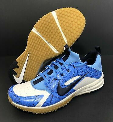 902edf5e77bb9 New Nike 2018 Alpha Huarache Turf Baseball 923435-004 Blue Black White Gum  Sz 13