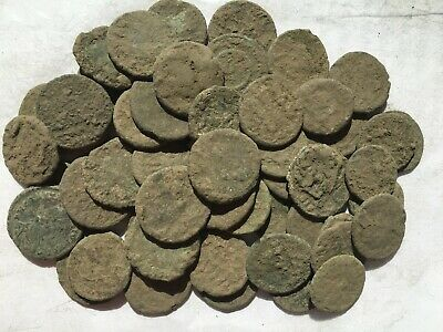 Nice anciente lot 50a  Roman uncleaned coins