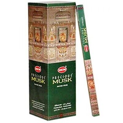 40 Incense Sticks - PRECIOUS MUSK - HEM BRAND - 5 Boxes x 8g- Fresh Stock
